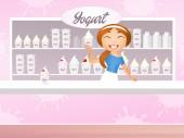 Yogurt shop — Stock Photo