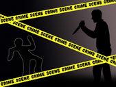 Crime scene — Stock Photo