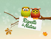 Respects nature — Stock Photo