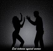 End violence against women — 图库照片