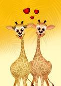 Giraff i kärlek — Stockfoto