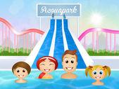 Vattenpark — Stockfoto