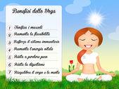 Benefits of the yoga — Stock Photo