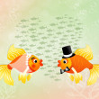 Fishes in love — Stock Photo #66936545