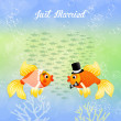 Fishes in love — Stock Photo #66936595