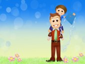 Otec s dítětem — Stock fotografie