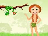 Eve in the Garden of Eden — Stock Photo