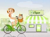 Vegan shop — Stock Photo