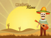 Mexican menu — Stock Photo