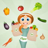 Vegan girl — Stock Photo