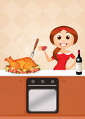 Roast turkey for Thanksgiving — Stock Photo