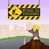 Mole for work in progress — Stock Photo