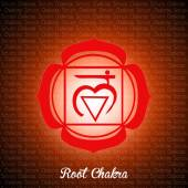 Root chakra — Stock Photo