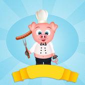 Schwein-chef — Stockfoto