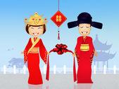 Chinees huwelijk — Stockfoto
