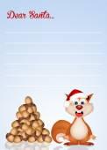 Squirrel at Christmas — Stock Photo
