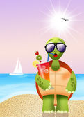 Turtle drink cocktail — Stock Photo
