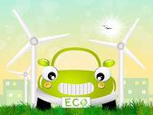 Ecological car — Stock Photo