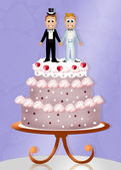 Wedding cake for gay couple — Stock Photo