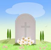 Grav på kyrkogården — Stockfoto