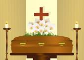 Funeral party — Stock Photo