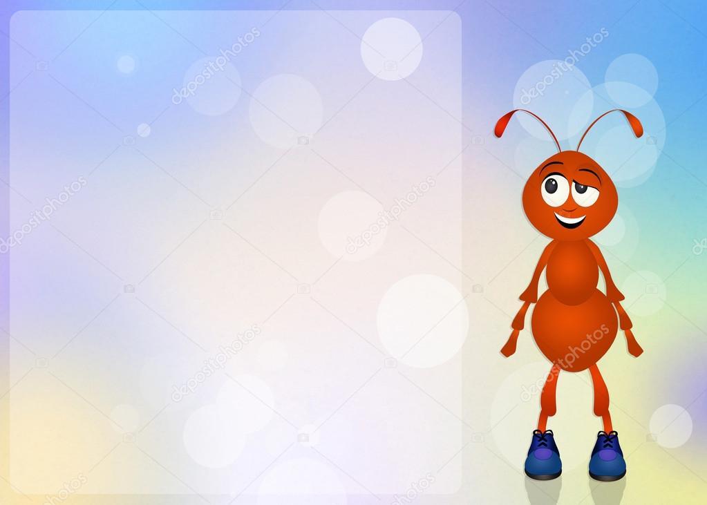 Fumetto divertente della formica — foto stock
