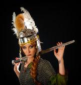 Female Warrior — Stock Photo
