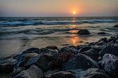 Indian Ocean at sunset. Varkala. — Stock Photo