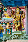 Detail  of indian Meenakshi temple — Stock Photo