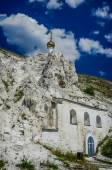 Orthodox cathedral carved out of natural rock — Stock Photo