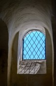 Window with a grid  — Stock Photo