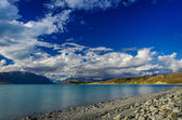 Beautiful background from The Lake Tekapo — Stock Photo
