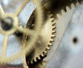 Background with metal cogwheels a clockwork. Conceptual photo — ストック写真