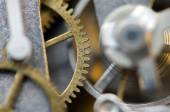 Background with metal cogwheels a clockwork. Conceptual photo fo — Stock Photo