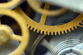 Background with metal cogwheels a clockwork. Conceptual photo — Stock Photo