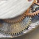 Background with metal cogwheels a clockwork. Conceptual photo — Stock Photo #58530619