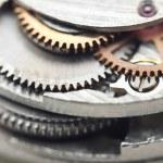 Background with metal cogwheels a clockwork. Conceptual photo — Stock Photo #58530639