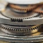 Background with metal cogwheels a clockwork. Conceptual photo — Stock Photo #58530437