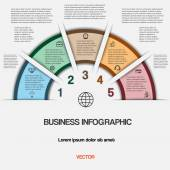 Business infographic for success project and other Your variant — Stock vektor