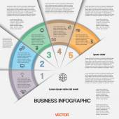 Business infographic for success project and other Your variant — 图库矢量图片