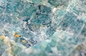 Amazonite is a bluish-green variety of microcline feldspar — Stock Photo