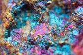 Bornite, also known as peacock ore, is a sulfide mineral — Stock Photo
