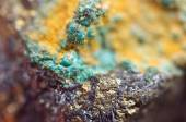 Malachite is a copper carbonate hydroxide mineral — Stock Photo