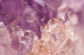 Amethyst is violet variety of quartz often used in jewelry — Stock Photo