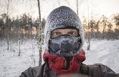 Frozen face — Stock Photo