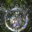 Angel glass Christmas tree bauble decoration — Stock Photo #58745879