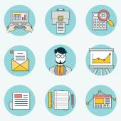 Set of data analytics icons for business - part 2 — Stock Vector