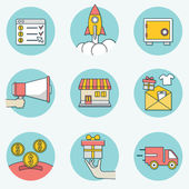 Set of business icons - part 2 — Stock Vector