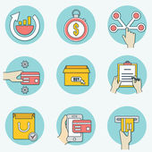 Set of business icons - part 1 — Stock Vector