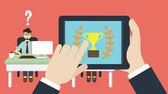 Selecting a desirable employee. Business human resource — Stock Vector